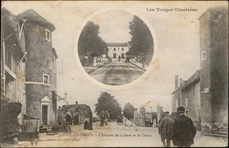 Liffolle-le-Grand, L'Avenue de la Gare et le Caron