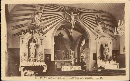 Mandres-sur-Vair, Intérieur de l'Église