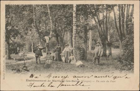 Etablissement de Martigny-les-Bains (Vosges), Un coin du Parc