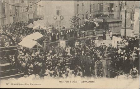 Une fête à Mattaincourt