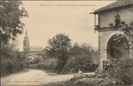 Moriville, Chapelle et Église (Route de Rambervillers)