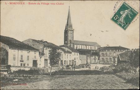 Moriville, Entrée du Village vers Châtel