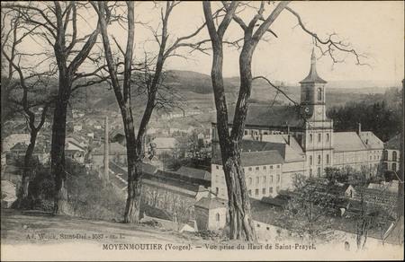 Moyenmoutier (Vosges), Vue prise du Haut de Saint-Prayel