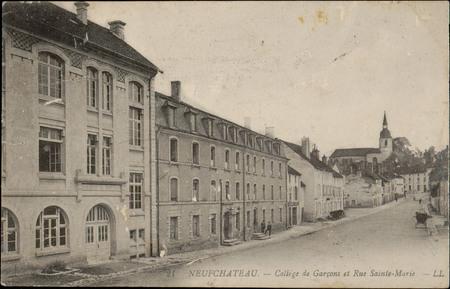 Neufchâteau, Collège de Garçons et Rue Sainte-Marie