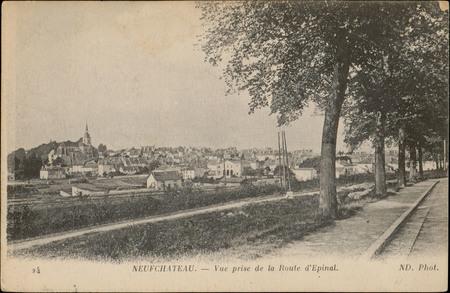 Neufchâteau, Vue prise de la Route d'Epinal