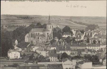 Neufchâteau, Vue générale vers l'Église Saint-NiColas