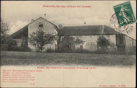 Nompatelize, près de Saint-Dié (Vosges), Maison des dernières cartouches (…