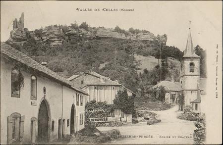 Vallée de Celles (Vosges), Pierre-Percée, Église et Château