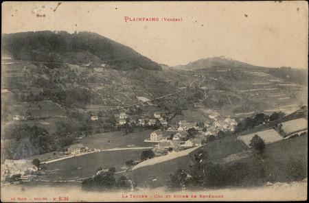 Plainfaing (Vosges), La Truche, Col et roche de Rovémont