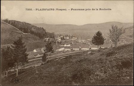 Plainfaing (Vosges), Panorama pris de la Rochatte