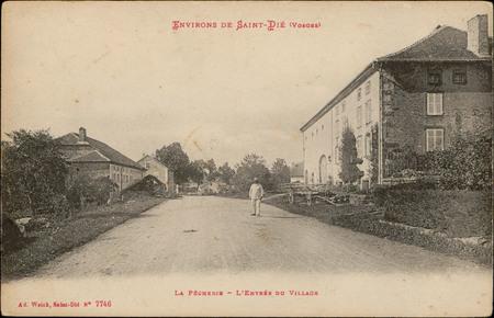 Environs de Saint-Dié (Vosges), La Pêcherie, L'Entrée du Village