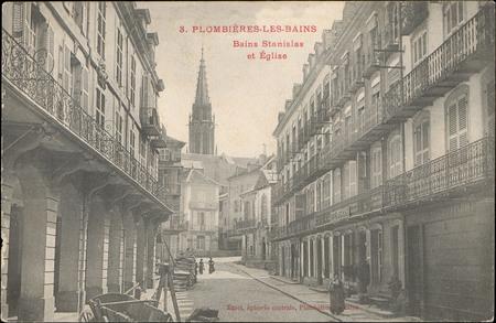 Plombières -les-Bains, Bains Stanislas et Église