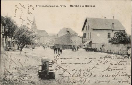 Provenchères-sur-Fave, Marché aux Bestiaux