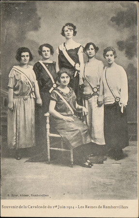 Souvenir de la Cavalcade du 1er Juin 1924, Les Reines de Rambervillers