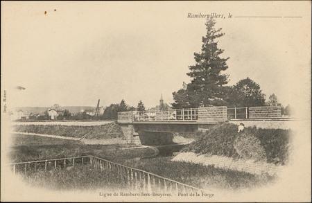 Ligne de Rambervillers-Bruyères, Pont de la Forge