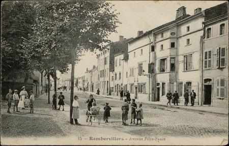 Rambervillers, Avenue Felix-Faure