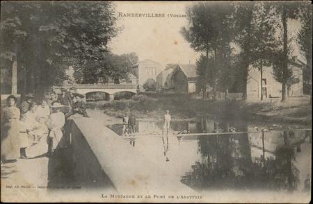 Rambervillers (Vosges), la Mortagne et le Pont de l'Abattoir