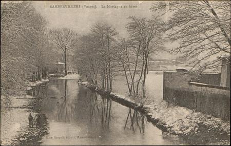 Rambervillers (Vosges), La Mortagne en hiver