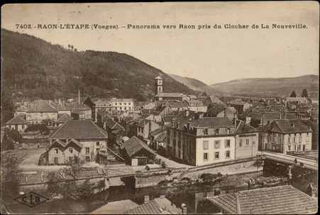 Raon-L'Etape (Vosges), Panorama vers Raon pris du clocher de La Neuveville