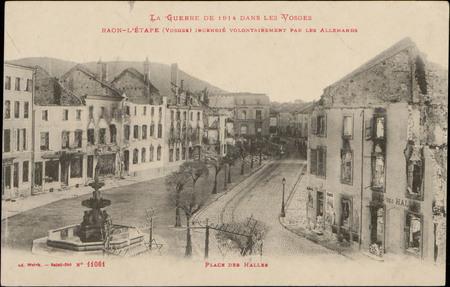 Raon-L'Etape (Vosges) incendié volontairement par les Allemands, Place des…