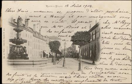 Raon-L'Etape, Fontaine et Grande Rue