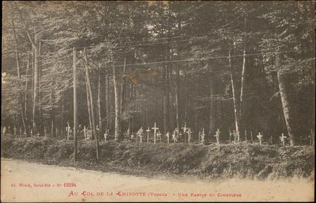 Au Col de la Chipotte (Vosges), Une partie du Cimetière