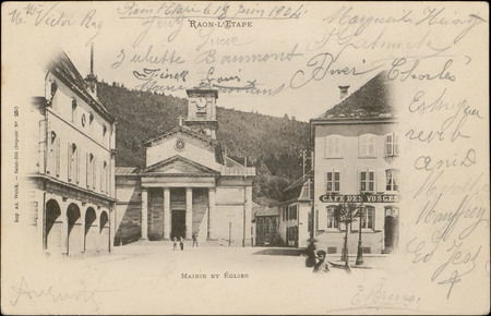 Raon-L'Etape, Mairie et Église