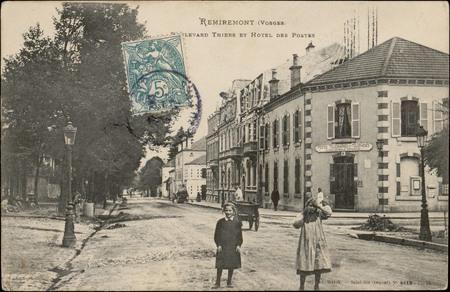 Remiremont (Vosges), Boulevard Thiers et Hôtel des Postes
