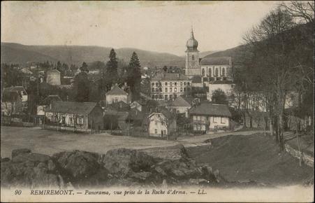 Remiremont, Panorama, vue prise de la Roche d'Arma