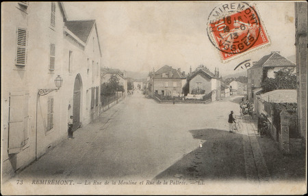 Remiremont, La Rue de la Mouline et Rue de la Palirée