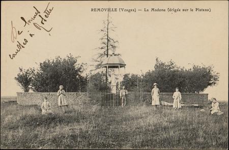 Removille (Vosges), La Madone (érigée sur le Plateau)