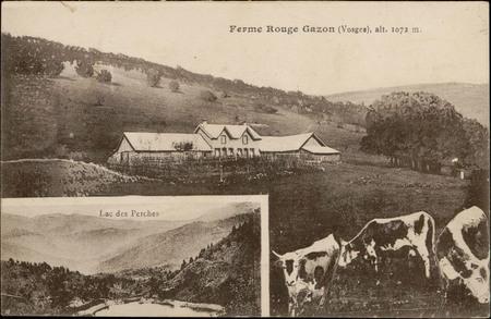 Ferme Rouge Gazon (Vosges), alt. 1072 m., Lac des Perches