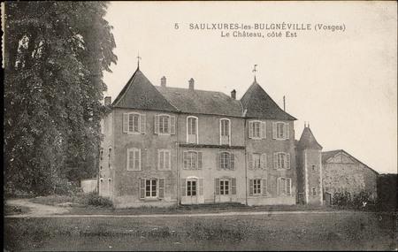 Saulxures-les-Bulgnéville (Vosges), Le Château, côté Est