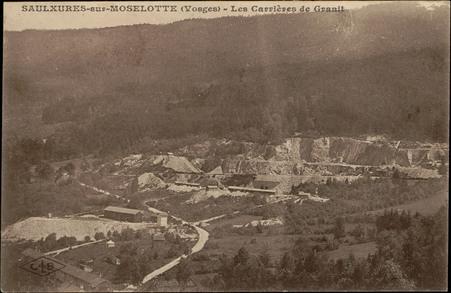 Saulxures-sur-Moselotte (Vosges), Les Carrières de Granit