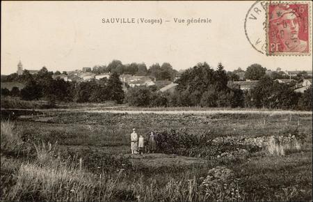 Sauville (Vosges), Vue générale