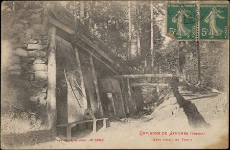 Environs de Senones (Vosges), Abri boche en forêt