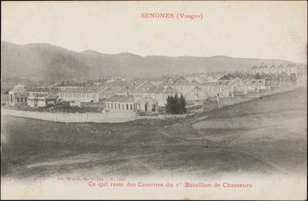 Senones (Vosges), Ce qui reste des Casernes du 1er Bataillon de Chasseurs