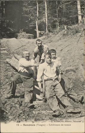 Senones (Vosges), Schlitteurs de troncs