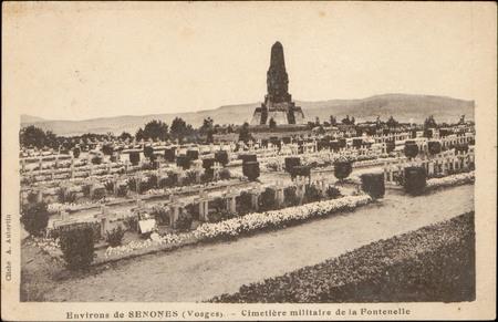 Environs de Senones (Vosges), Cimetière militaire de la Fontenelle