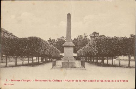 Senones (Vosges), Monument du Château, Réunion de la Principauté de Salm-S…