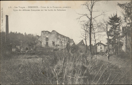 Senones, Usine de la Poterosse, première ligne des défenses françaises sur…