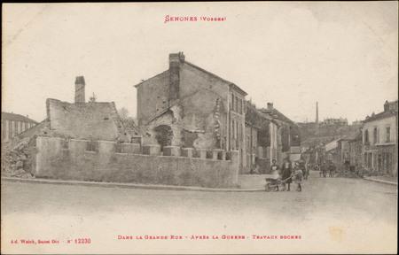 Senones (Vosges), Dans la Grande Rue, Après la Guerre, Travaux boches