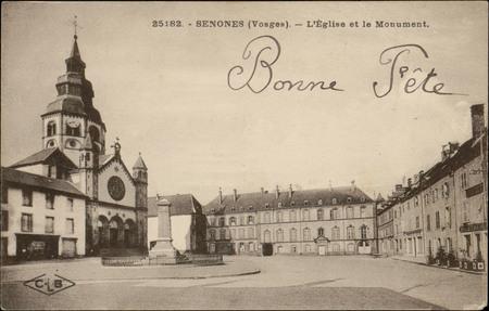 Senones (Vosges), L'Église et le Monument