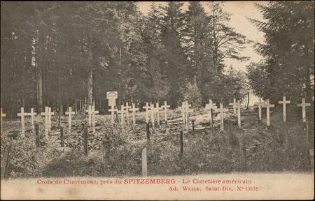 Croix de Charémont, près du Spitzemberg, Le Cimetière américain