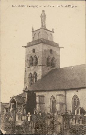 Soulosse (Vosges), Le clocher de Saint-Elophe