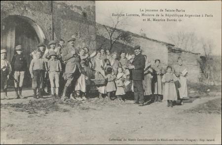 La jeunesse de Sainte-Barbe, Enrique Larretta, Ministre de la République A…