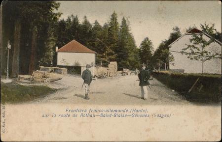 Frontière franco-allemande (Hants) sur la route de Rothau - Saint-Blaise -…