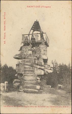 Saint-Dié (Vosges, La Chaire du Diable (Sapin Sec) au Sommet de l'Ormont (…