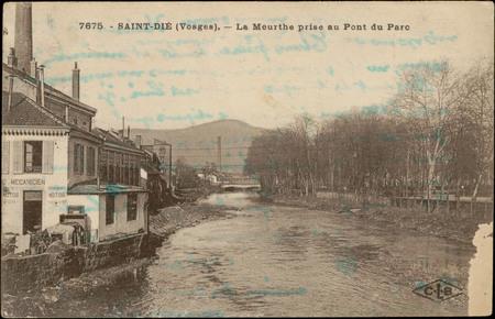 Saint-Dié (Vosges), La Meurthe prise au Pont du Parc