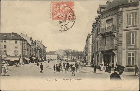 St. Dié., Place St. Martin